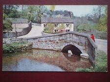 POSTCARD DERBYSHIRE ALPORT - C1960 THE BRIDGE OVER THE RIVER LATHKILL