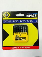 "CK 1/4"" T4513 Blue Steel IMPACT 50mm Screwdriver Bit TX Pack - 6 Pieces"