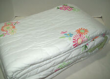 Pottery Barn Kids Pink Floral Flowers Madeline Twin Quilt Brand New