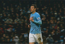 Edin DZEKO SIGNED COA Autograph 12x8 Photo AFTAL Man City Bosnian RARE