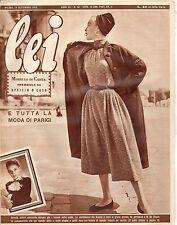 rivista LEI ANNO 1952 NUMERO 38