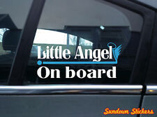 """ little Angel on board "" funny baby, child, kids in car warning Sticker / Decal"