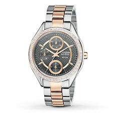 Citizen Women's FD1066-59H Eco-Drive Two Tone Rose Gold Swarovski Crystal Watch