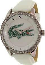 Lacoste Women's Victoria 2000893 White Leather Quartz Watch