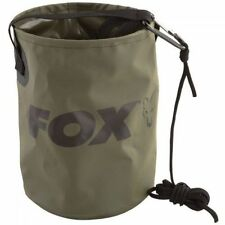 Fox NEW Carp Fishing Collapsible Water Bucket 4.5L Inc Rope & Clip - CCC040