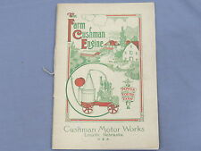 Vintage CUSHMAN Farm Gas Engine Sales Brochure 1914 Rare Catalog Early! 44 pages
