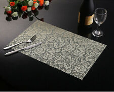 Pattern Weave Insulation Bowl Placemats Dining Pad Western Table Mats Sales