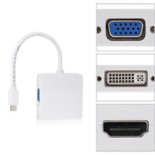 Mini DP Displayport Thunderbolt to DVI VGA HDMI Adapter 3 in1 für MacBook Neu