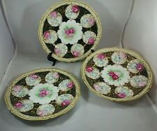Nippon hand painted rose plates