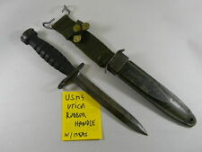 "US GI M1 CARBINE BAYONET ""UTICA""  RUBBER HANDLE  WITH  M8A1 SCABBARD"
