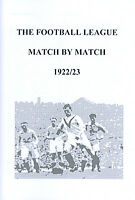 The Football League Match By Match 1922/23 Season Complete Statistics book