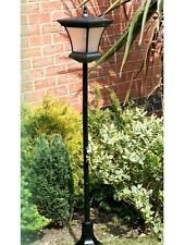 Solar powered garden lamp post outdoor patio pathway lights Traditional Design