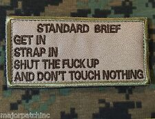 STANDARD BRIEF USA ARMY MORALE USAF ISAF MULTICAM VELCRO® BRAND BADGE PATCH