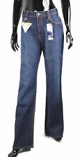 JN16-55 Jeans Paddocks Denim Blau W31 L34 High Waist weites Bein gerade Form
