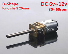 DC6v~12v 60rpm long shaft axis micro gear motor metal geared box slow speed