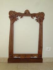 ancien cadre bois ART NOUVEAU miroir mirror wood frame rahmen aus aulz majorelle
