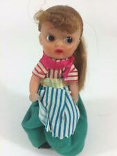 "Dancing Spinning Vintage 5"" Vinyl Doll Wind Up Toy SEE VIDEO Works Great"