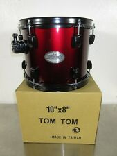 """Pearl Soundcheck Rack Tom - 10 x 8"""" - Wine Red w/ Black Hardware - Mahognay"""