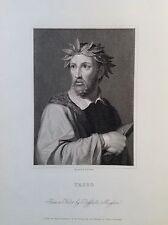 TASSO Torquato ritratto XIX secolo poeta, scrittore, drammaturgo Sorrento