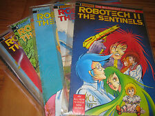 """VINTAGE ROBOTECH II SENTINELS """"THE MALCONTENT UPRISINGS"""" ALL COMICS"""