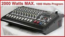 2000Watts 10 Channel Professional Powered Mixer power mixing Amplifier Amp 16DSP