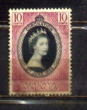 1953 Malaya Malaysia Malacca 10c Coronation
