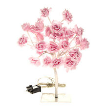 NEW LARGE 32 LED PINK ROSE TREE TABLE LAMP LOUNGE LIGHT HOME PARTY DECOR GIFT