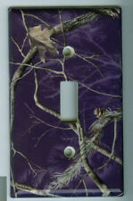 Realtree PURPLE Light Switch Cover Camo Deer Hunting Single Toggle Plate