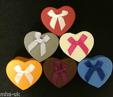 48 High Quality Heart shape Earring/Ring Jewellery boxes, display box,6 colours