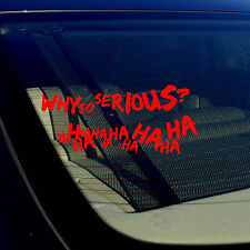 Joker Haha Serious Super Bad Evil Body Window Car Red Sticker Decal Pack of 2 FD