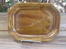 Hand Spun~Pottery~Tray~Leaf Design~Unknown Artist