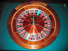 30 Inch Solid Mahogany Roulette Wheel (Made in the USA)
