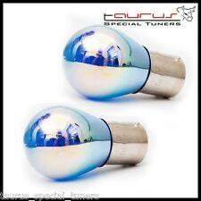 2 Lampadine P21/5W luce diurna bianco 6000K 12V 21W BAY15D S25 doppio filamento