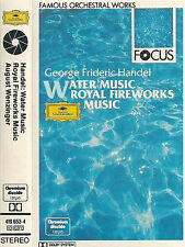 HANDEL WATER MUSIC ROYAL FIREWORKS CASSETTE DG FOCUS  AUGUST WENZINGER SCHOLA