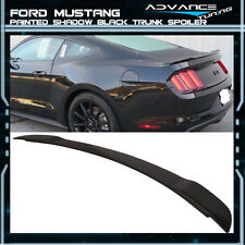 15-17 Ford Mustang GT Factory Trunk Spoiler OEM Painted Color Shadow Black