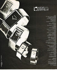 PUBLICITE ADVERTISING 064  1975  ALEXIS BARTHELAY   collection montres de luxe