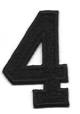 "NUMBERS  - Black Number ""4"" (1 7/8"") - Iron On Embroidered Applique/Numbers"