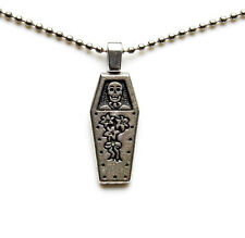 Coffin Pendant with Adjustable Chain - Necklaces - Women's Jewelry - Gift Box