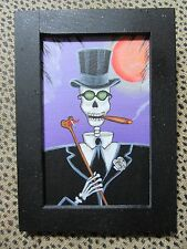 Small Original Framed Painting Voodoo Baron Samedi