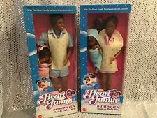 VINTAGE BARBIE HEART FAMILY BATHTIME FUN AA AFRICAN-AMERICAN DOLLS MOM 4751 DAD