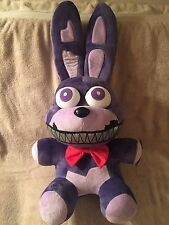 "FNAF FIVE NIGHTS AT FREDDY'S HUGE 24"" EXCLUSIVE NIGHTMARE BONNIE PLUSH DOLL NWT"