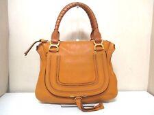Authentic Chloe Light Brown Medium Marcie Leather Handbag w/ Guarantee
