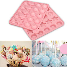 New Silicone Cake Chocolate Lollipop Pop Mould Mold Tray Birthday Decorating
