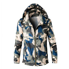 Men Hoodie Coat Jacket Outwear Cardigan Camouflage Winter Hooded Sweatshirt US