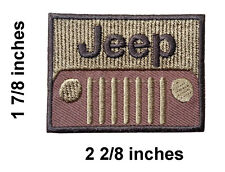 Jeep Logo Embroidered Iron On Patch.