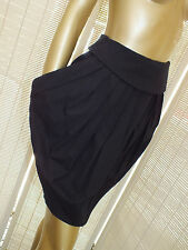 CUE BLACK Full Circle Dress Mini SKIRT Suit Career FORMAL ASSYMETRICAL S 10