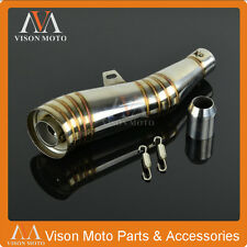 Universal Stainless 38-51mm Motorcycle GP Slip-On Exhaust Muffler Silencer
