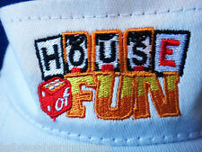 House of fun slot machine visor embroidered gabling dice clown headband hat app