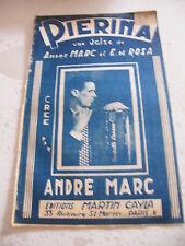 Partition Pierina André Marc et E De Rosa Valse