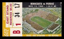 1965 Minnesota v Purdue Football Ticket 11/13/65 Ross-Ade Stadium 27573